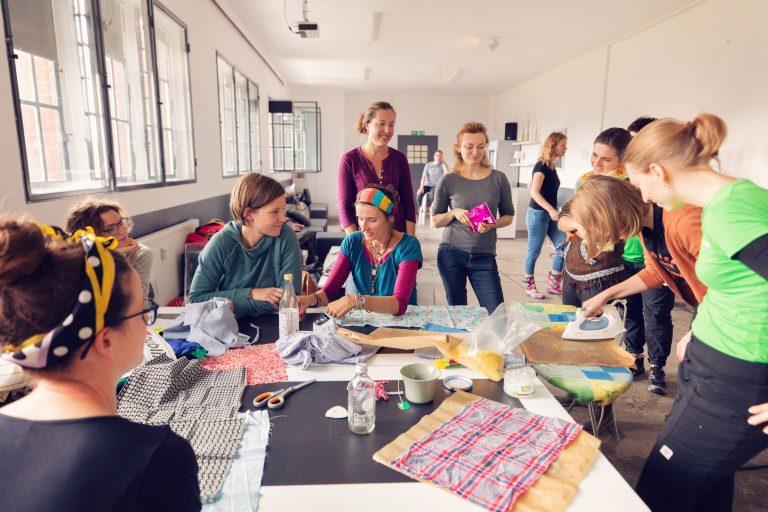 In Workshops könnt ihr kreativ werden.